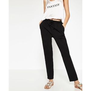 NWT Zara cropped darted trouser pant